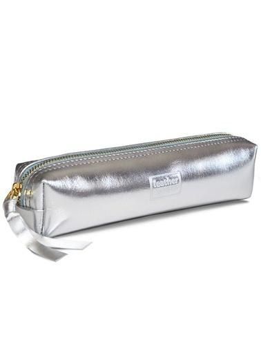 Leather & Paper Deri Kalem Kutusu Gümüş